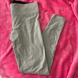 VS Pink Gray Soft Yoga Pants Small